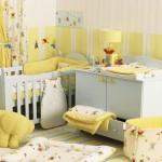 Красивый ремонт спальни с детской кроваткой фото
