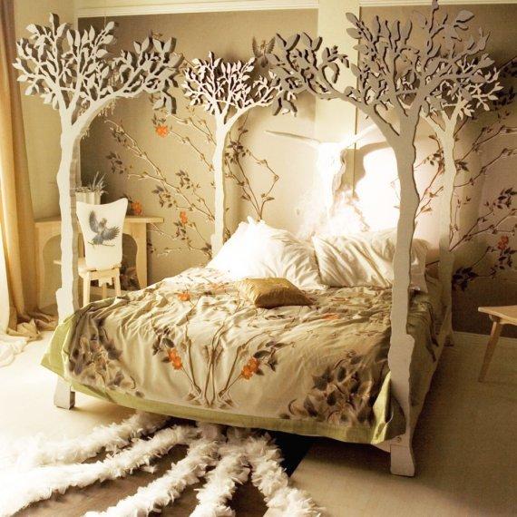 Кровать своими руками из дерева фото резьбы по материалу