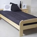Невысокая деревянная односпальная кровать 90 х 200 см