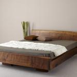 Низкая натуральная кровать своими руками из дерева фото