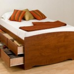 Односпальные кровати с ящиками для белья по бокам