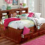Односпальные кровати с ящиками для белья в два ряда