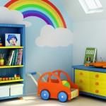 Разноцветная отделка и ремонт в детской фото