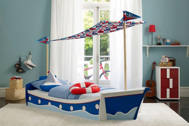 Ремонт спальни с детской кроваткой фото в виде корабля