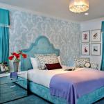 Шикарные голубые подростковые кровати для девочек фото