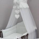 Шикарный белый балдахин на детскую кроватку фото
