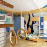 Великолепный ремонт детской комнаты фото для разнополых детей