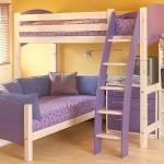 Яркая кровать детская с ящиками для хранения фото комплекса