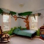 Загадочный интерьер и ремонт в детской фото