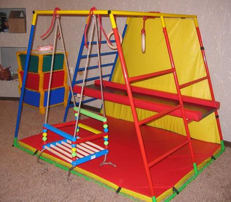 интересные спортивные уголки в детской комнате