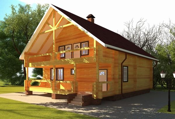 Дома из бруса: качественная и недорогая постройка