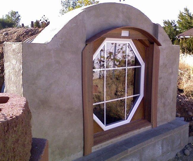 Дом Хоббита (установка окна)