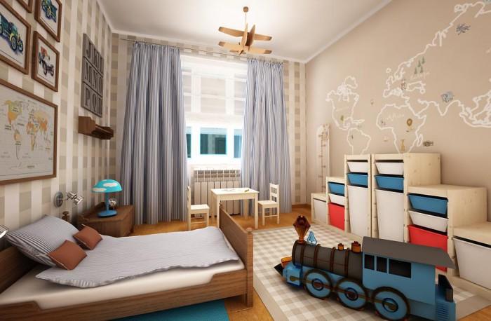 Варианты оформления детских комнат