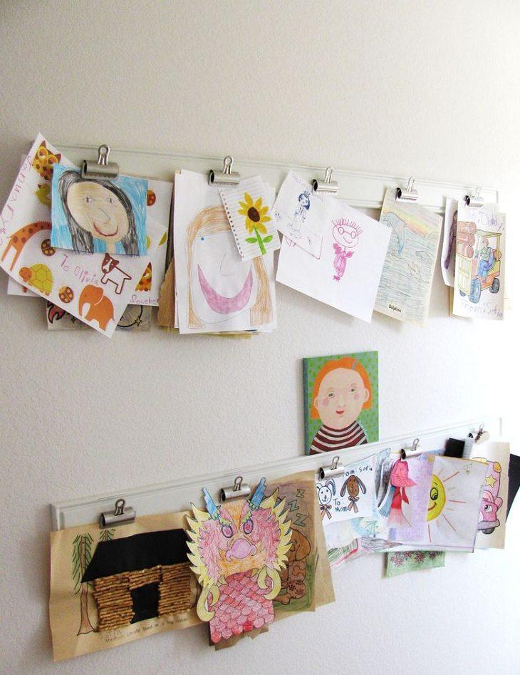 Детские рисунки в интерьере