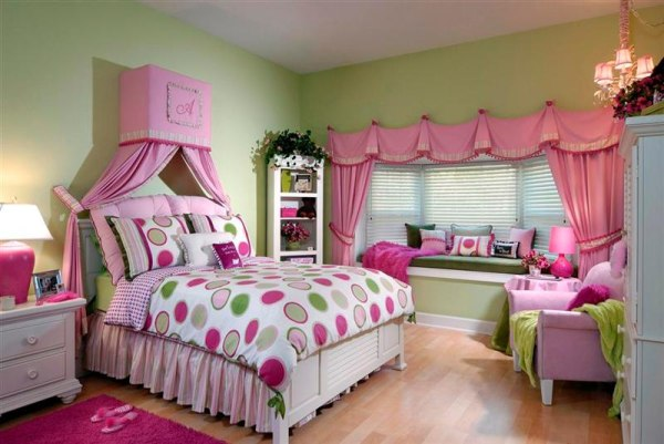 Оформление комнаты для девочки