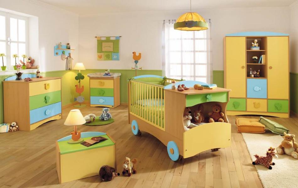 Интерьер большой детской комнаты