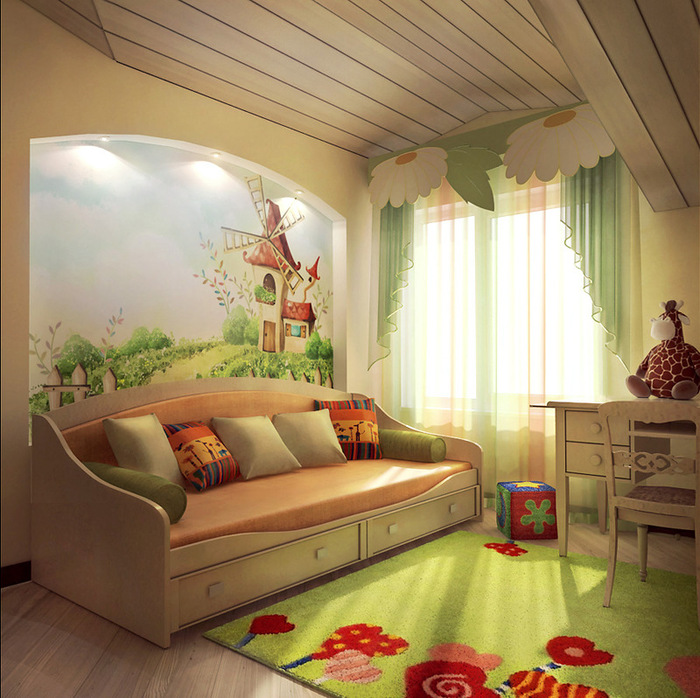 Диван кровать с бортиками