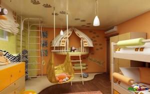 Интересные идеи декора детской комнаты3