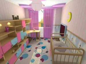 Интересные идеи декора детской комнаты9